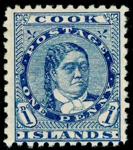 COOK ISLANDS SG12, 1d blue, M MINT.