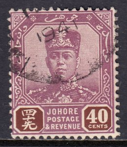 Malaya (Johore) - Scott #115 - Used - Pencil on reverse - SCV $11.00