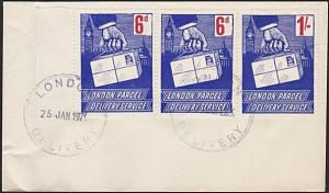 GB 1971 Postal Strike : London Parcel Delivery stamps on cover..............6701