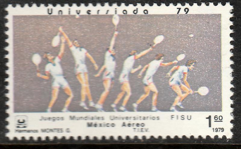 MEXICO C612, TENNIS University Games. MINT, NH, F-VF.