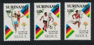 Suriname Football Olympic Games Seoul 3v SG#1374-1376 CV£7.2
