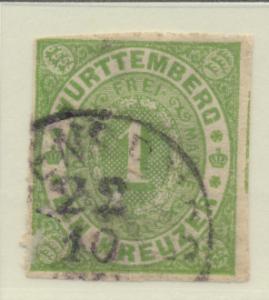Wurttemberg Stamp Scott #47, Used - Free U.S. Shipping, Free Worldwide Shippi...