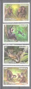 Rwanda 1306-09 MNH Animals/Monkies SCV12.55