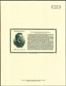 US Interphil '76 Souvenir Card #SO 3 Lincoln Gettysburg Address SCARCE (002)