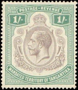 Tanganyika #39, Incomplete Set, 1927-1931, Hinged
