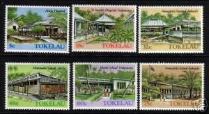 TOKELAU 1986 BUILDINGS SET 6 MNH