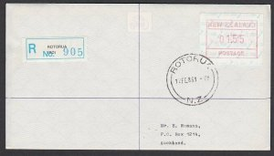 NEW ZEALAND 1986 $1.55 Frama Registered FDC ex Rotorua......................B286