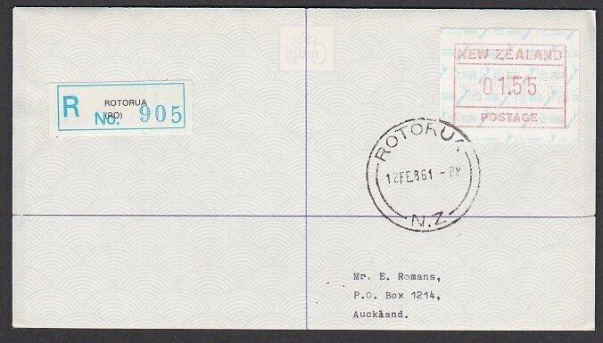 NEW ZEALAND 1986 $1.55 Frama Registered FDC ex Rotorua......................B286