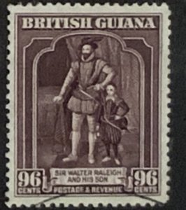 BRITISH GUIANA 1938 96 cents  SG316  USED