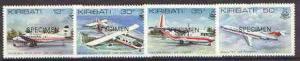 Kiribati 1982 Air Tungaru Airline set of 4 opt'd SPECIMEN...