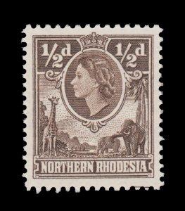 ZAMBIA (NORTHERN RHODESIA) YEAR 1953. SCOTT # 61. UNUSED