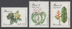 Brazil MNH 2168-70 Flowering Plants 1989