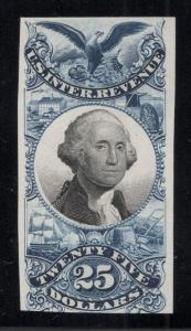 US#R130P3 $25.00 Black & Blue - Plate Proof on India Paper