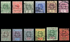 Togo 1915 KGV set complete very fine used. SG H34-H46.