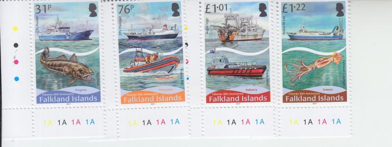 2017 Falkland Fisheries (4) (Scott NA) MNH