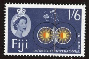 FIJI Scott 183 MNH** 1962 QE2  180 meridian intl date line stamp