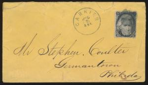 #93 ON COVER WITH BLACK GRILL CANCEL & CARRIER ONLY POSTMARK BP1137