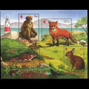 GIBRALTAR 2002 - Scott# 912a S/S Wildlife NH
