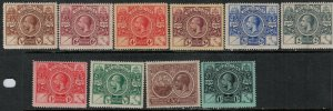 Bermuda SC 71-79 Mint 1921 SCV$ 120.00 Set