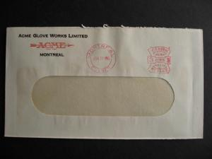 CANADA 1936 ACME glove works advertising cover, check it out!