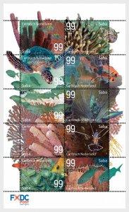 Stamps 2017 Caribbean Netherlands - Underwater World of Saba - Sheet.