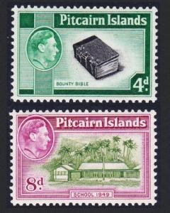 Pitcairn George VI Definitives Second Issue 2v SG#5b-6a SC#5A-6A