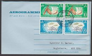 NEW HEBRIDES 1968 formular airletter used to UK - TANNA cds................55057