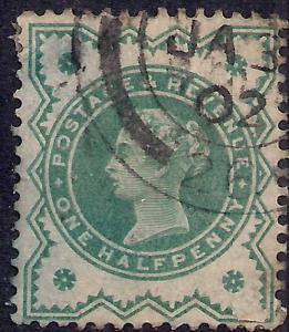 GB 1900 QV 1/2d Blue Green Colour Change SG 213 ( J1198 )