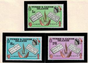 Turks and Caicos islands Scott #175 To 177, Mint Never Hinged MNH, Internatio...