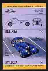 St Lucia 1984 Cars #1 (Leaders of the World) 5c Bugatti T...