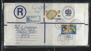 LESOTHO  (PP0310B) 1981 LONG   RLE+ 6S/4T +15C  MASERU TO SOUTH AFRICA