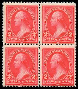 momen: US Stamps #250 Block of 4 MNH OG F/VF CV $360