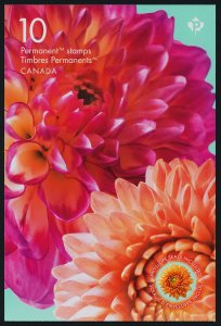 Canada new issue Booklet MNH Flowers, Dahlia