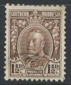 Southern Rhodesia SG 16cd  SC# 17a Perf 11½  Used see scan and details