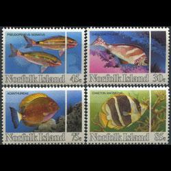 NORFOLK IS. 1984 - Scott# 339-42 Fish Set of 4 NH