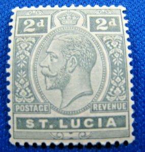 SAINT LUCIA 1916  -  SCOTT # 66a  -   MH  (Hs17)