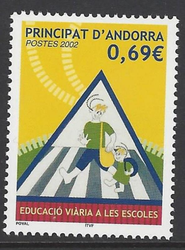 Andorra French 2002 Traffic Safety VF MNH (555)