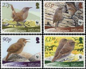 Falkland Islands 2009 Sc 994-997 Birds Cobb's Wren WWF CV $10
