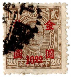 (I.B) China Postal : $10 on $2 overprint