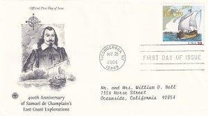 2006, 400th Anniv. Champlain's East Coast Explorations, PCS, FDC (E11340)