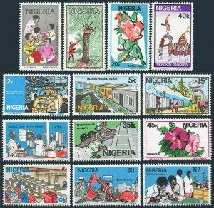 Nigeria 488-500 set of 13 stamps,MNH.Mi 470-473. Development of Nigeria,1986.