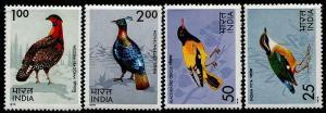 HERRICKSTAMP INDIA Sc.# 656-59 NH Birds Stamps