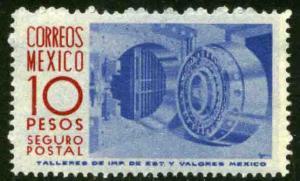 MEXICO G14, $10Pesos 1950 Definitive 1st Printing, wmk 279. MINT, NH. F-VF.