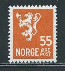 Norway 201A 55o Lion single MNH
