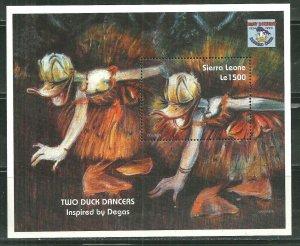 Sierra Leone MNH S/S 1786 Donald Duck Two Duck Dancers Inspired DEGAS SCV 5.50