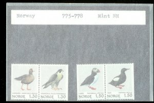 NORWAY Sc#775-778 MINT NEVER HINGED Complete Set