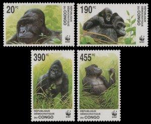 2002 Congo (Kinshasa) 1708-11 WWF 12.00 €