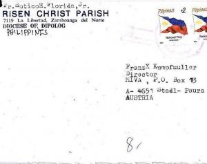 CP13 Philippines Cover 1980s *DIPOLOG* Risen Christ Parish Missionary Air Mail
