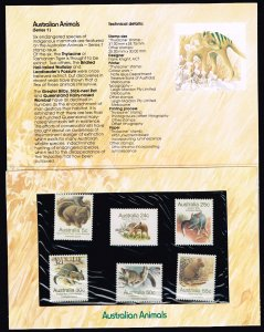 AUSTRALIA STAMP ANIMAL SERIES  MNH STAMP WITH OFFICIAL FOLDER LOT #1