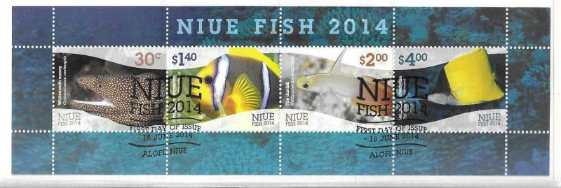 2014    NIUE  -  SG.  MS 1120  -  FISH  -  USED
